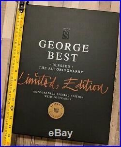 2002 Authentic George Best BLESSED Autobiography Signed Limited Edition Box Set
