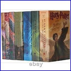 7 Harry Potter HARDCOVER Books Complete Series Collection Box Set Lot Gift