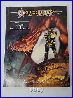 AD&D 1992 Dragonlance Tales of the Lance Boxed Set 1074 TSR Dungeons & Dragons