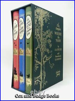 A A MILNE The Complete Winnie the Pooh 2011 FOLIO SOCIETY boxed set 3 volumes