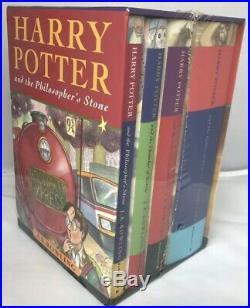 Bloomsbury HARRY POTTER 1-4 HARDBACK Book Box Set Collection RARE NEW & SEALED