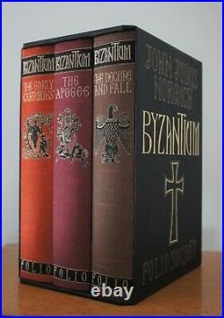 Byzantium John Julius Norwich 3 Volume Box Set Rare Folio Edition Excellent