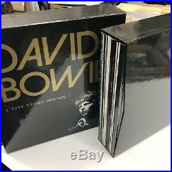 DAVID BOWIE 5 Five Years 1969 1973 box set 2015 13xLP with hardcover book OOP