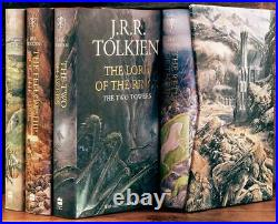 DELUXE BOXED SET LORD OF THE RINGS & HOBBIT by JRR TOLKIEN ILLUS by ALAN LEE