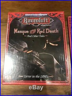 D&D Ravenloft Masque Of The Red Death Box Set And Accessorries ORIGINAL SHRINK
