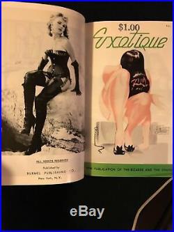 Exotique Vintage Mens Leather & Lace Magazine 3 Book Box Set Collection
