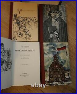 Folio Society x 4 Great Russian Novel BOX SET zhivago war peace crime punishment