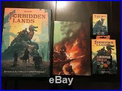 Forbidden Lands RPG box set lot Kickstarter Ogre pledge Free League Fria Ligan