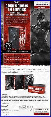 Gaunt's Ghosts Super Limited Edition Hardback Trilogy Box Set Dan Abnett