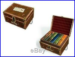 HARRY POTTER HARDCOVER BOOKS 1-7 Grandpre in Collectible HOGWARTS TRUNK Box Set