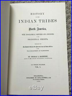 HISTORY INDIAN TRIBES NORTH AMERICA THOMAS McKENNY JAMES HALL BOXED SET OF 3