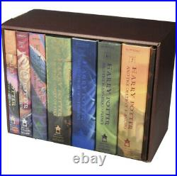 Harry Potter Books Set #1-7 in Collectible Trunk-Like Toy Chest Box US Edition