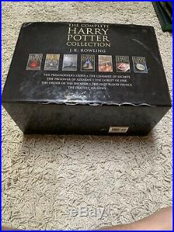 Harry Potter Boxed Set 1-7 J K Rowling-bloomsbury Uk Adult Edition Hardcovers