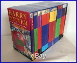 Harry Potter Complete UK Bloomsbury Hardback Book Box Set Slipcase, Read Notes