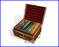 Harry Potter Hard Cover Boxed Set Books #1-7 With Stickers