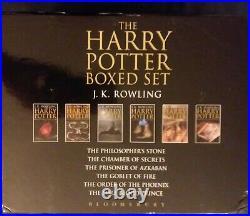 Harry Potter Hardcover UK Adult Edition Bloomsbury Full Box Set Book 1-6 RARE VG