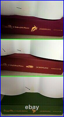Harry Potter Signature Edition by J. K. Rowling Hardback Boxed Set (All Signature)
