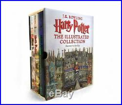 Harry Potter The Illustrated Collection (Books 1-3 Boxed Set) Hardcover NEW