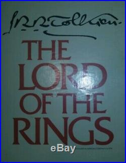 JRR Tolkien The Lord of the Rings Trilogy 1 3 Box Set 1965 Revised HC Maps