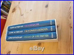 John Wyndham Trilogy Folio Society Box Set Day of the Triifids Chrysalids