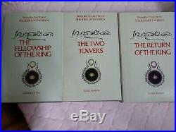 Lord of the Rings 1965 2nd Edition Revised Hardcover Book Box Set Tolkien