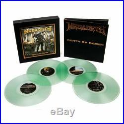 MEGADETH Death By Design hardcover comic book colored vinyl OOP RARE Heavy Metal