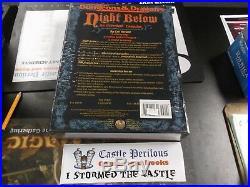 MINT AD&D Dungeons & Dragons Night Below An Underdark Campaign Box Set TSR