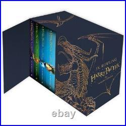 NEW Harry Potter 7 Books The Complete Collection Hardback Box Set Keepsake Gift