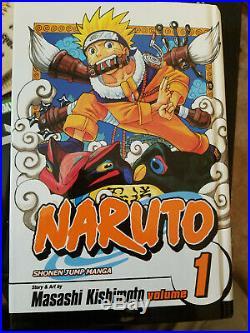 Naruto Manga lot Volumes 1-50! + RARE Hardback Vol 1 and DVD boxset 1