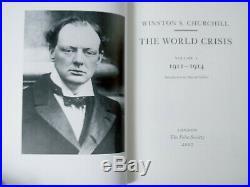 New THE WORLD CRISIS WINSTON CHURCHILL FOLIO SOCIETY COMPLETE 5 VOL BOX SET 2007