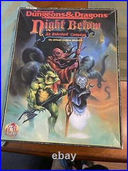 Night Below An Underdark Campaign TSR 1125 Dungeons & Dragons AD&D Boxed Set