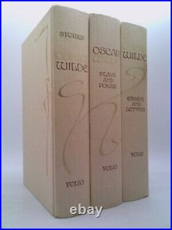 Oscar Wilde in 3-Vol Box Set Stories, Plays, Poems, Essays. (Ltd Ed)