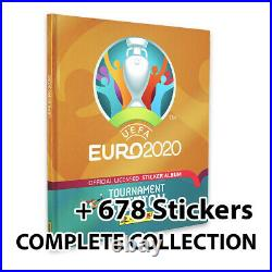 Panini UEFA Euro 2020 2021 Hardback Album + Complete Collection 678 Stickers
