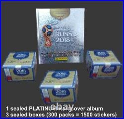 Platinum Hardcover album + 1500 PANINI Stickers Mexico edt Russia 2018 World Cup