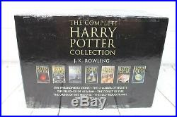 RARE HARRY POTTER ADULT EDITION 7x BOOKS HARDBACKS BOX SET COMPLETE J K ROWLING