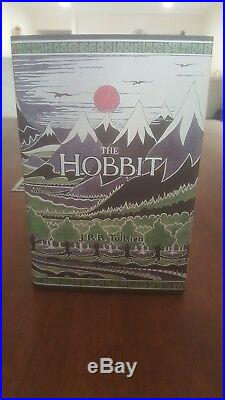 Rare The Hobbit and 1st Ed The History of Hobbit 3 Vol Box Set JRR Tolkien
