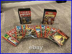 SET OF TWO VAULT OF HORROR, TALES Of THE CRYPT HARDCOVER BOX SET EC COMICS RARE