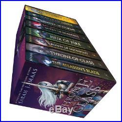 Sarah J. Maas Throne of Glass Box Set 8 Books Collection Hardcover Brand New