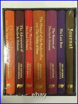 Sherlock Holmes Deluxe Hardback Arthur Conan Doyle 6 Books Box Set PLUS journal