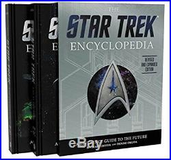 Star Trek Encyclopedia Revised and Expanded 2016 Box Set Used (Shelf Wear) Rare