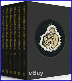 The Complete Zap Comix Boxed Set by R. Crumb (English) Hardcover Book Free Shipp