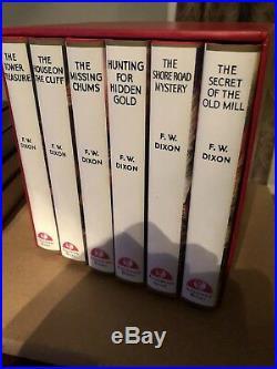 The Hardy Boys RED BOX SET Applewood Books Facsimile 1-6 Dixon HCDJ Pract New