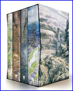 The Hobbit & The Lord of the Rings Boxed Set by J. R. R Tolkien Free Shipping