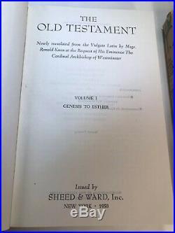 The Holy Bible Ronald Knox New Translation Box Set Hardcover Dustjacket 40s VTG
