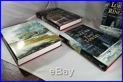 The Lord of the Rings by J. R. R. Tolkien Boxed Set 3 Hardcovers Lee Signed