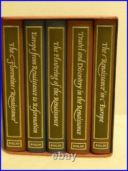 The Story of the Renaissance 5 Volumes in Slipcase The Folio Society Box set
