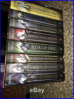 Throne of Glass COMPLETE Box Set by Sarah J. Maas Hardcover 8-book set