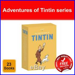 Tintin Boxed Set 23 Book Titles Set Collection Herge pack NEW